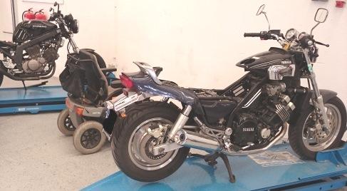 Hebebühne Motorrad